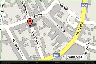 Zobrazení adresy na mapě